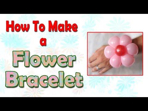 How to make a flower bracelet