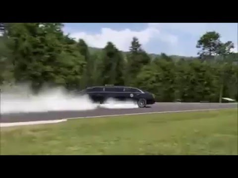 Professional Driver  Drive a Cadillac Limousine in Reverse