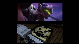 Minecraft And Overwatch - Comparison // Hanzo vs GENJI