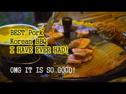 BEST Pork Korean BBQ I HAVE EVER HAD! [SAMGYUPSAL MUKBANG]