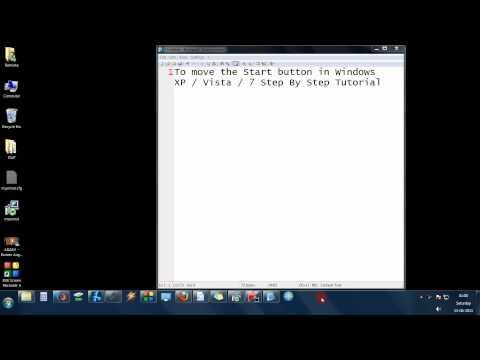 To move the Taskbar Windows XP  Vista  7 Step By Step Tutorial