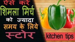 शिमला मिर्च को लम्बे समय के लिए स्टोर कैसे करें | How To Preserve Capsicum | Freeze Bell Peppers