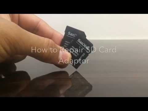 How to unlock Sandisk SD card Adaptor ( Lock broken , writes protected ) , not a problem