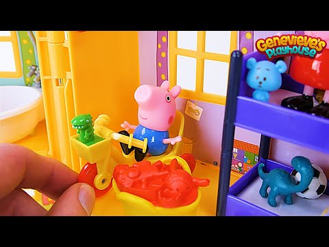 PEPPA PIG gets a new toy House in this Kids Learning Video!
