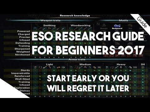 ESO Beginners Guide - Research and Traits Explained. Start Now or You Will Regret It!