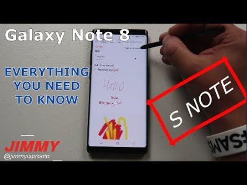Samsung Notes In-Depth Tutorial - Galaxy Note 8