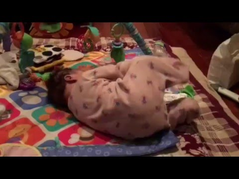 Teach Baby How To Roll Over, Baby Rolls Over For First Time