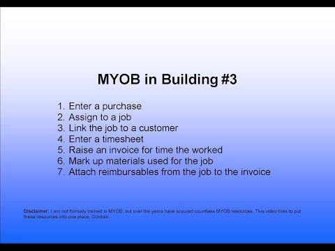 3.MYOB Data Entry for Timesheets and Reimbursables