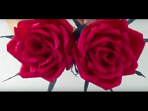 HOW TO MAKE CREPE PAPER ROSES