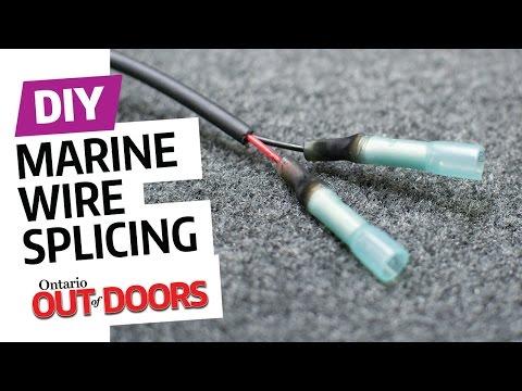 Marine wire splicing steps