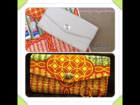 DIY: How To Cover A Clutch Bag With African Ankara Farbic