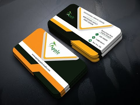 How to Make a Corporate Business Card Design For Graphicriver