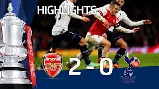 ARSENAL vs TOTTENHAM HOTSPUR 2-0: Official Goals & Highlights FA Cup Third Round