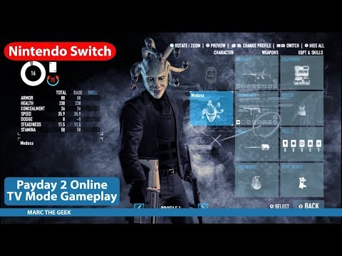 Nintendo Switch Payday 2 TV Mode Gameplay