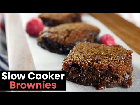 Amazingly Gooey Slow Cooker Brownies