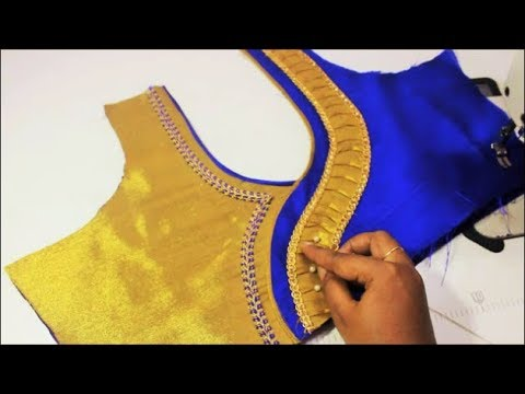 Wedding Silk Saree Designer Blouse Cutting & Stitching (DIY)