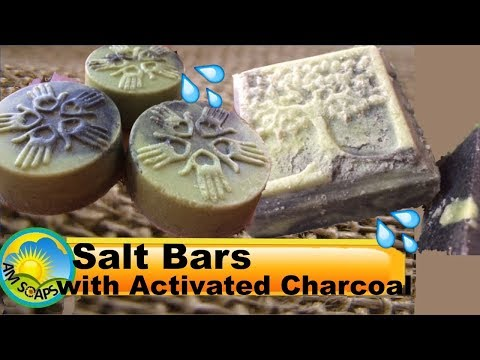 Making and cutting Salt Bars with Activated Charcoal