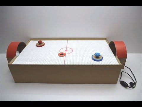 DIY Air Hockey Desktop Game from Cardboard