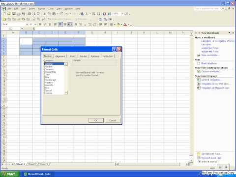 Excel 2003 Tutorial #1