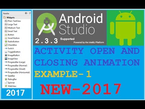 Android studio tutorial - Android start activity animation left to right. Only App developer know it