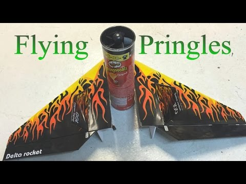 Flying Pringles - homemade RC plane