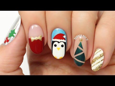 5 Fun Holiday/Christmas Nail Art Designs!