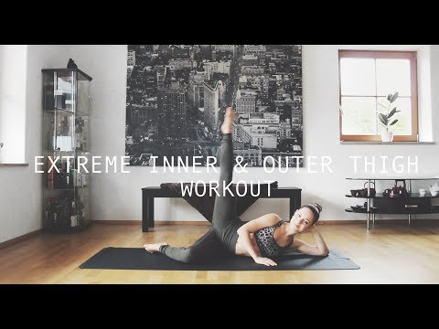 Extreme Inner & Outer Thigh Workout ❤ Pretty Pilates To Get Toned Legs