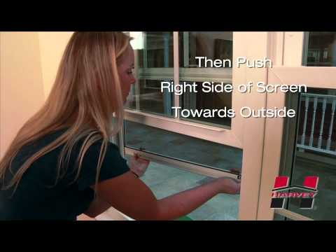 How to Remove Your Half Screen for Your Harvey Double Hung Window