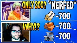 Streamers React To *NEW* MATERIAL NERF! *RIP* Fortnite FUNNY & EPIC Moments