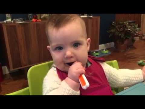 Baby led weaning - liver, cucumber and pepper