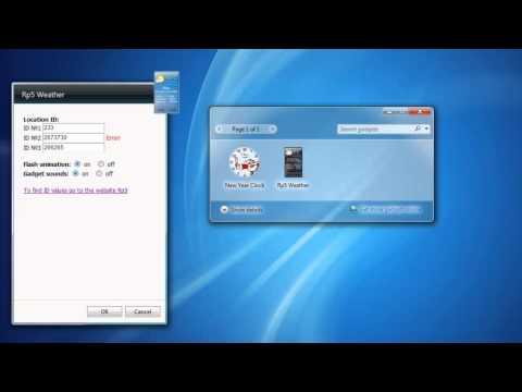 Rp5 Weather Windows 7 Gadget