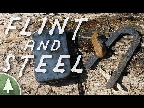 Making a Flint & Steel Fire - Bushcraft