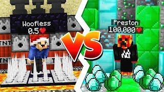 BEST LUCK vs WORST LUCK! (PrestonPlays vs MrWoofless)