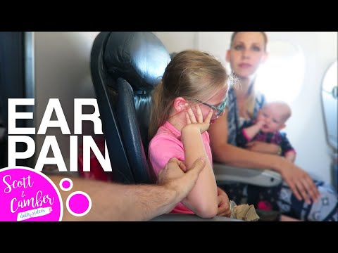 😢👂EAR PAIN ON A PLANE - Ears won't pop...😭 | Scott and Camber