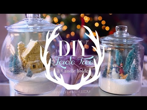DIY EASY Winter Wonderland Terrarium Snow Globe | ANN LE