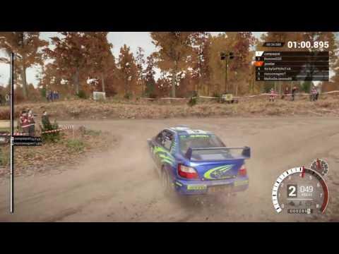 DiRT 4 online gameplay Subaru Impreza 2001 close loss