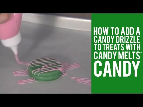 How to add a Candy Drizzle to Treats with Candy Melts® Candy