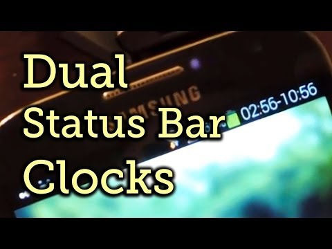 Get Two Different Status Bar Clocks on Your Samsung Galaxy S4 for Multiple Time Zones [How-To]