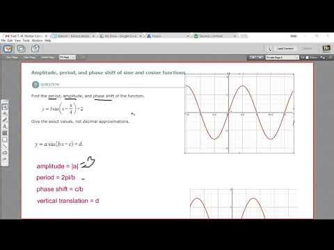 Amplitude period and phase shift of sine and cosine functions
