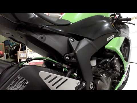 How to install performance brake lines on a sport bike