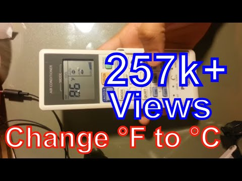 How to change Fahrenheit to Celsius Panasonic remote control air conditioner | F to C
