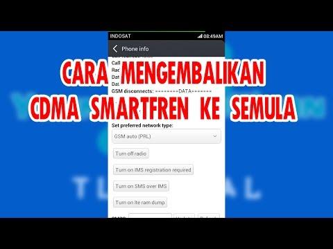 Mengembalikan SIM CDMA GSM ke Semula