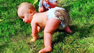 Funny Babies First Time Crawling Weird -  Funny Baby Videos