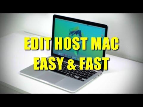 EDIT HOST FILE ON MAC