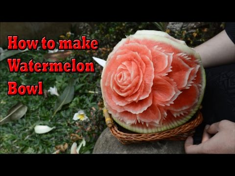 How To Carve A Fruit Watermelon Basket