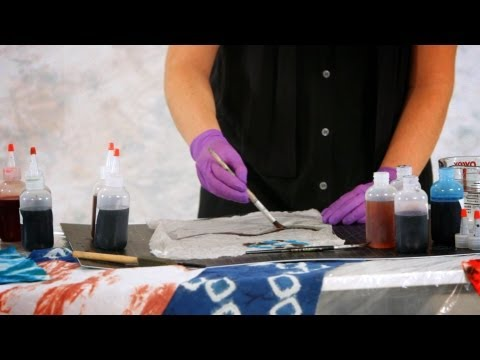 How to Paint with Fiber Reactive Dyes   Tie Dyeing