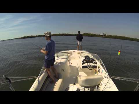 Cape Coral Fishing - Catching Trout & Flounder - 4 fish in 8min (GoPro Hero 3 on board)