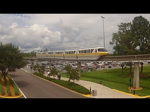 Ride Monorail Yellow from Epcot to Magic Kingdom Ticket & Transporation Center