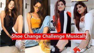Shoes Change Challenge Musically   Bhavna Mayani, Unnati Malharkar, Holly H