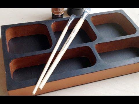 DIY How to make a Vintage cardboard organizer (corrugated cardboard furniture) HD